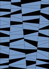 Pattern Design black&blue A3