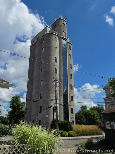 A grain elevator in Pittsford that's been turned into office space, Erie Canal Path, New York