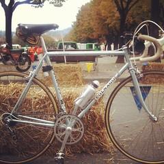 Just a kind of #Eroica ride today. #colnago #vintage #steel #menridesteel #tuttiaPinerolo #campagnolo