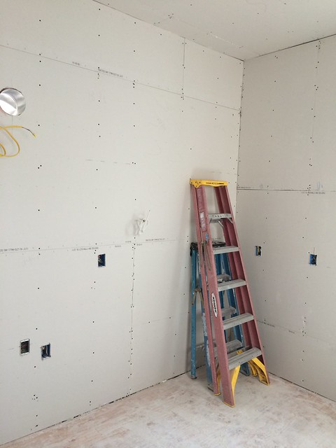 Southeast corner, drywall in - Day '11'
