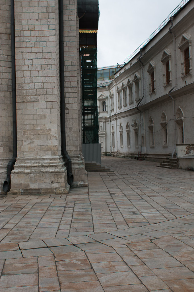 Grounds of Cathedrals area at Kremlin in Moscow