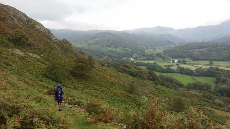 @wellycath climbing up from Beckfoot to Blea Tarn #sh