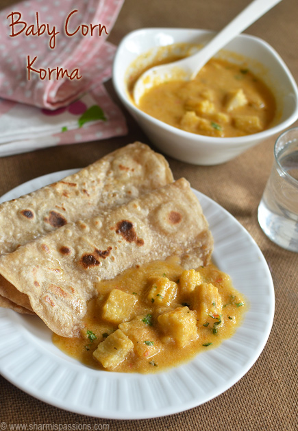 Baby Corn Korma Recipe
