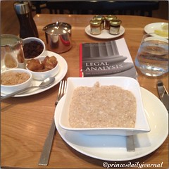 """#princesbriefcase: Legal Practice Skills. Today I will be studying statutory analysis while conducting my very own legal research on Disorderly Conduct in Massachusetts. #whatsprinceeating: """"Steel Cut Oatmeal w/ Apples and Raisins"""" www.princesdailyjournal"""