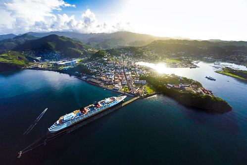 morning capital disney aerial grenada cruiseship caribbean nautilus disneymagic phantom2 gopro townofstgeorge evnautilus