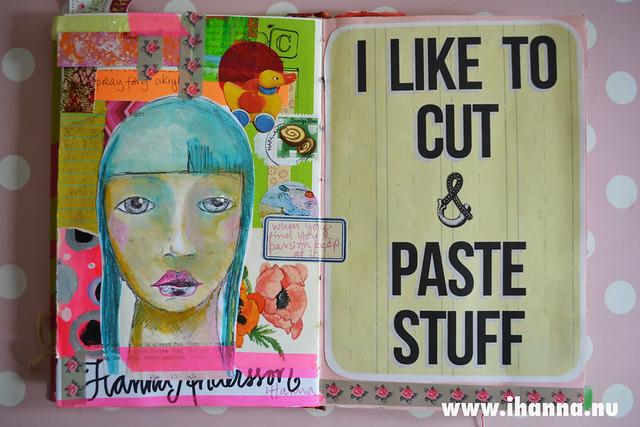 Art Journal: I like to cut and paste stuff, by iHanna of www.ihanna.nu