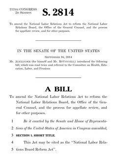 Senator Alexander Needs to Read the National Labor Relations Act