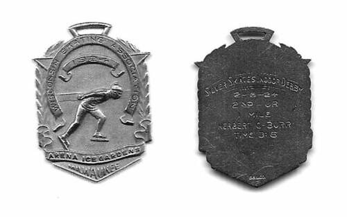 Milwaukee speedskating medal