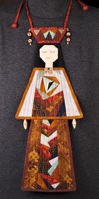 fall color textile pectoral adornment