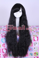 Rha in black wave wig