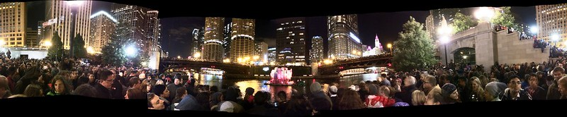 Panoramic of The Great Chicago Fire Festival