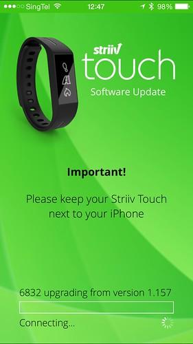 Striiv iOS App - Updating Firmware