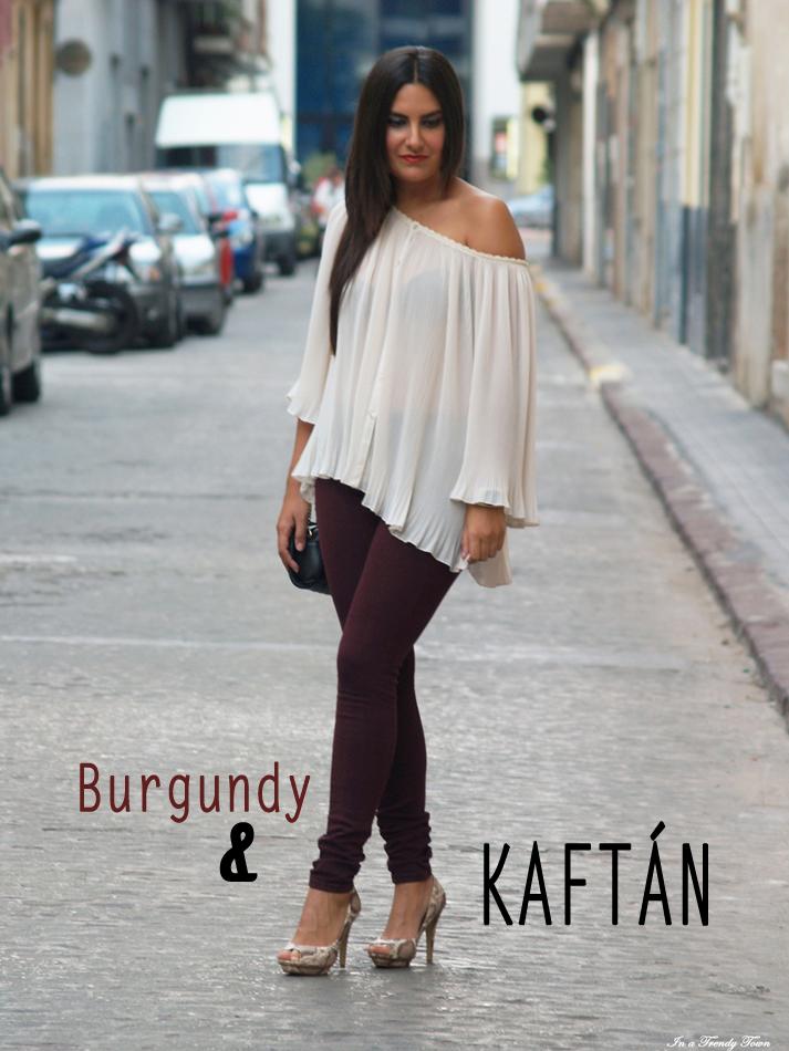 OUTFIT BURGUNDY & KAFTÁN