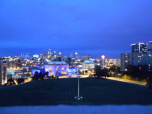 twilight city view
