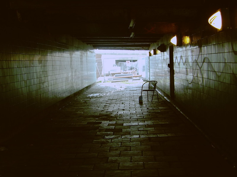 Empty Chair & Underpass