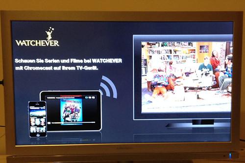 27 - Google Chromecast - Anzeige auf TV
