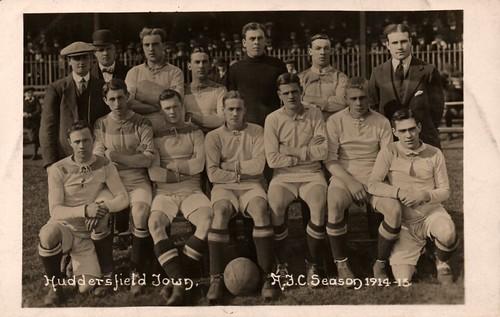 12 The Huddersfield Team prior to kick-off against Bradford Park Avenue