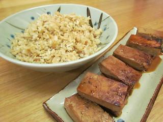 Coconut Rice; Tofu (Koyadofu) Teriyaki