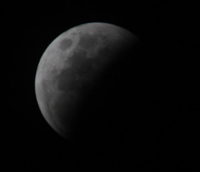 Eclipse in progress