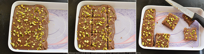 How to make chocolate burfi - Step3