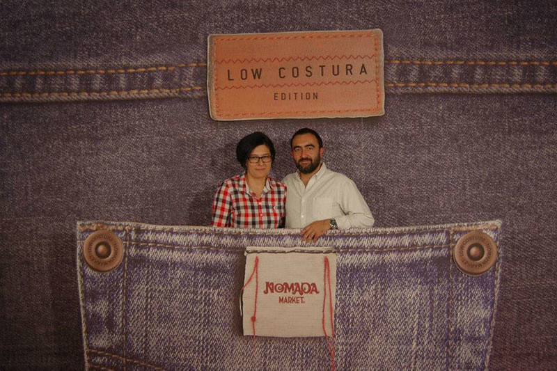 Pablo and I in Nomada Market's photocall