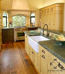 Kitchen Studio of Monterey - Green Marble Counter Kitchen