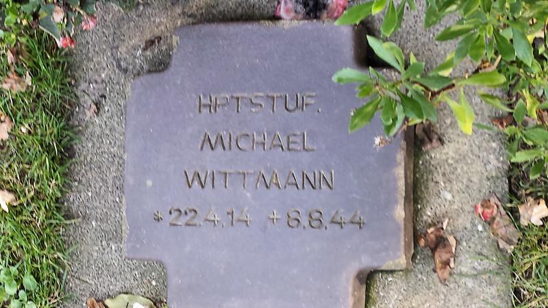 Wittmann's Grave Marker Close-up