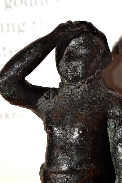 Minoan era (and Minoan style) bronze male statuette in the