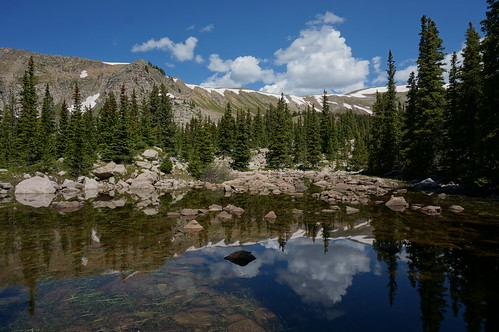 water clouds reflections colorado monarch waterdoglakes gettinghigh2014