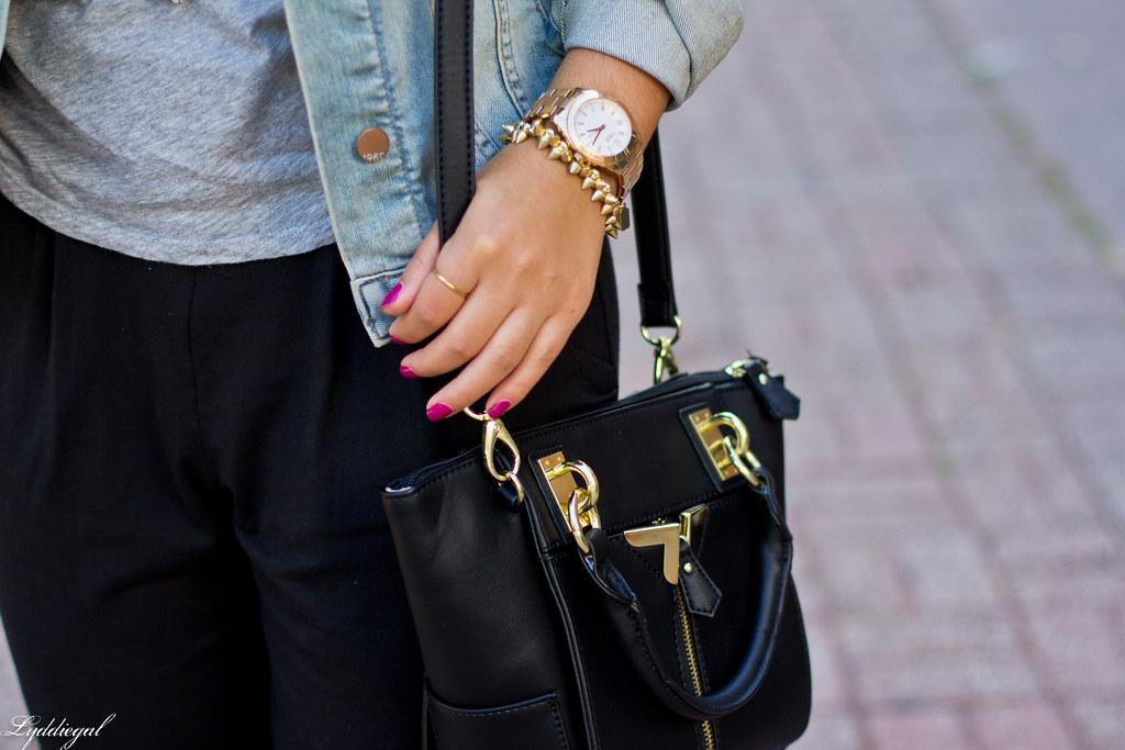 slouchy black pants, grey tee, denim jacket-3.jpg