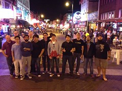 The Diplomats of Drum hit Beale Street for some blues and BBQ in Memphis, TN. Photo by Edmund Wong Chee Mun.