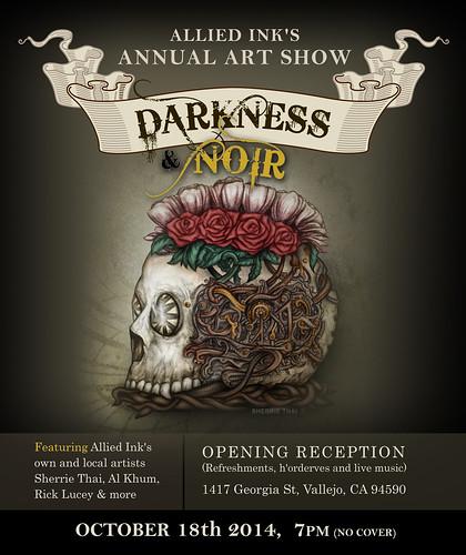 Darkness & Noir Art Show Poster