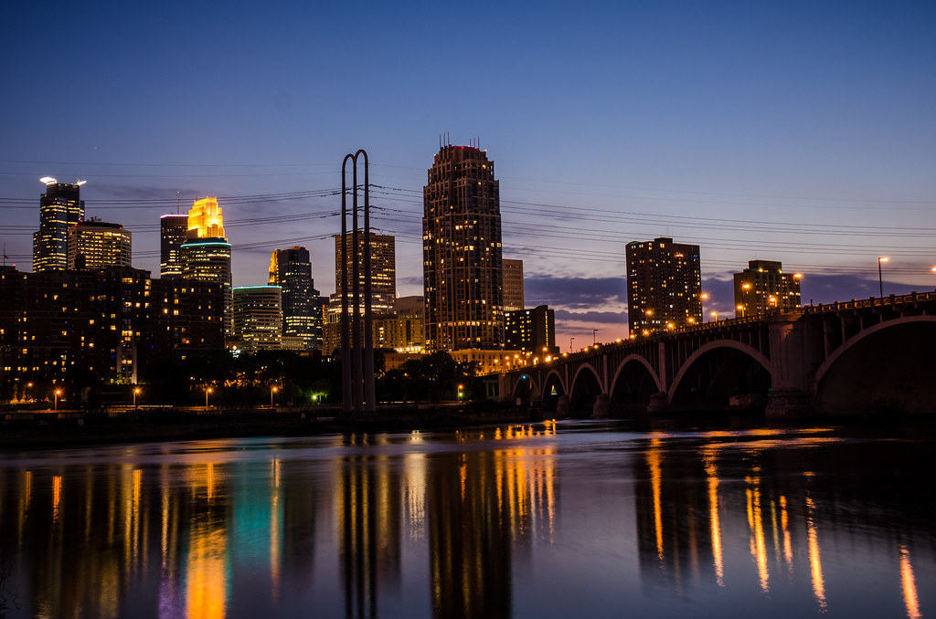 Dusk / Blue Hour - Downtown Minneapolis Skyline