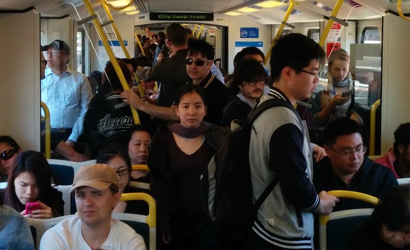Werribee line, Sunday morning. Trains 40 minutes apart.