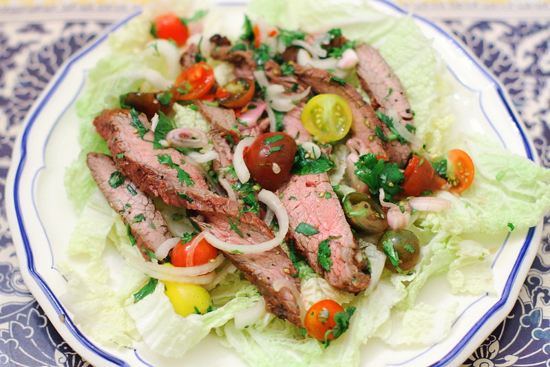 Sunday Dinner: Thai Beef with Tomato and Herb Salad