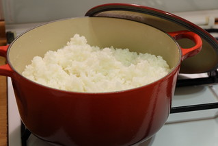 Cooking rice with le creuset