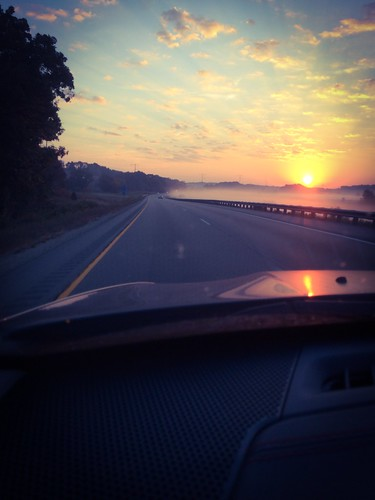 Pretty sunrise on my way back home!