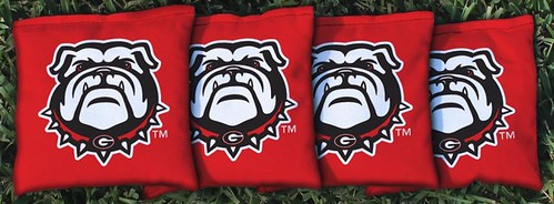 GEORGIA BULLDOGS RED CORNHOLE BAGS