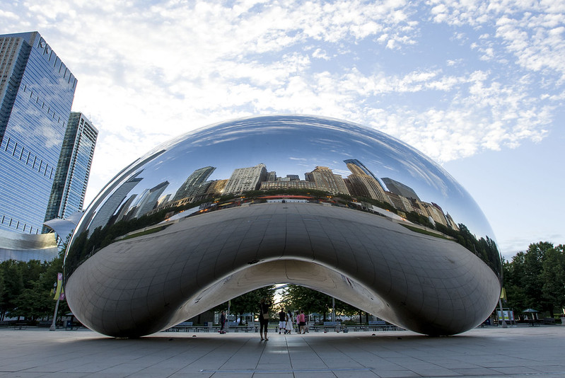 Cloud gate, bean in Chicago