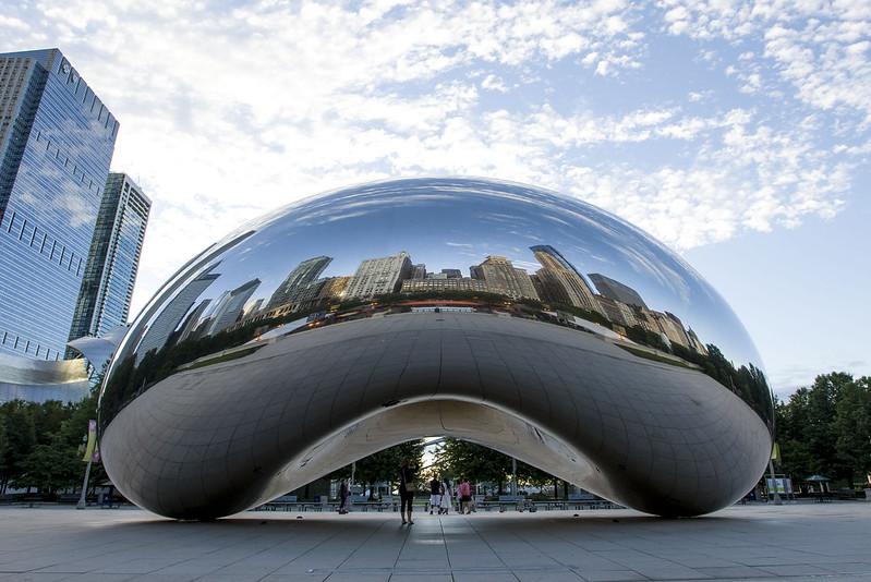 Cloud gate, bean in Chicago