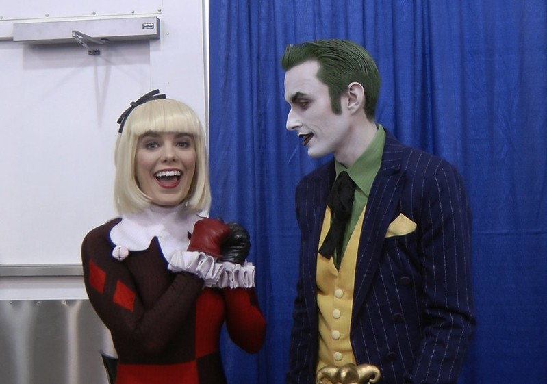 Meeting cosplayers at Big Wow ComicFest