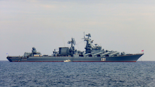 Russian Navy Cruiser Moskva