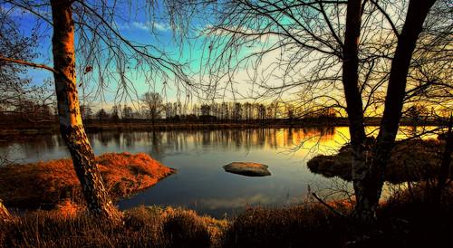 autumn sunset canon river landscape scenery drohiczyn cesarz marcelxyz