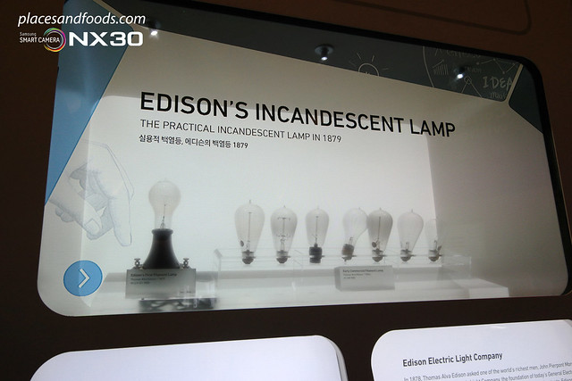 samsung innovation museum edison lamps