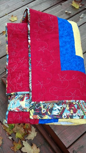 Mikey's quilt - I did the quilting and binding only