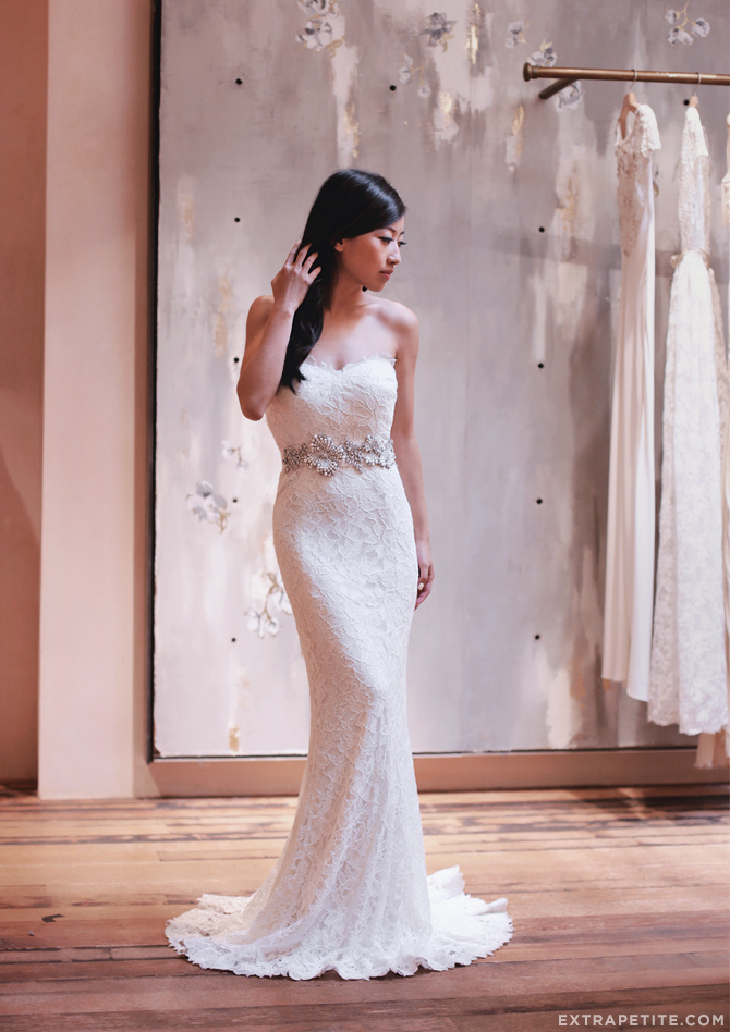 Extra petite petite fashion style tips and diy for Petite wedding dress designers