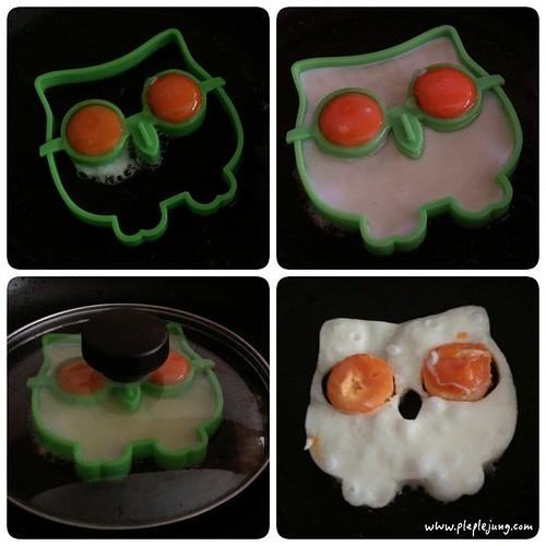 พิมทอดไข่ดาวรูปนกฮูก