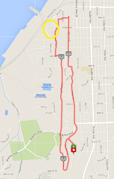 Today's awesome walk, 3.6 miles in 1:13 (281ft gain)