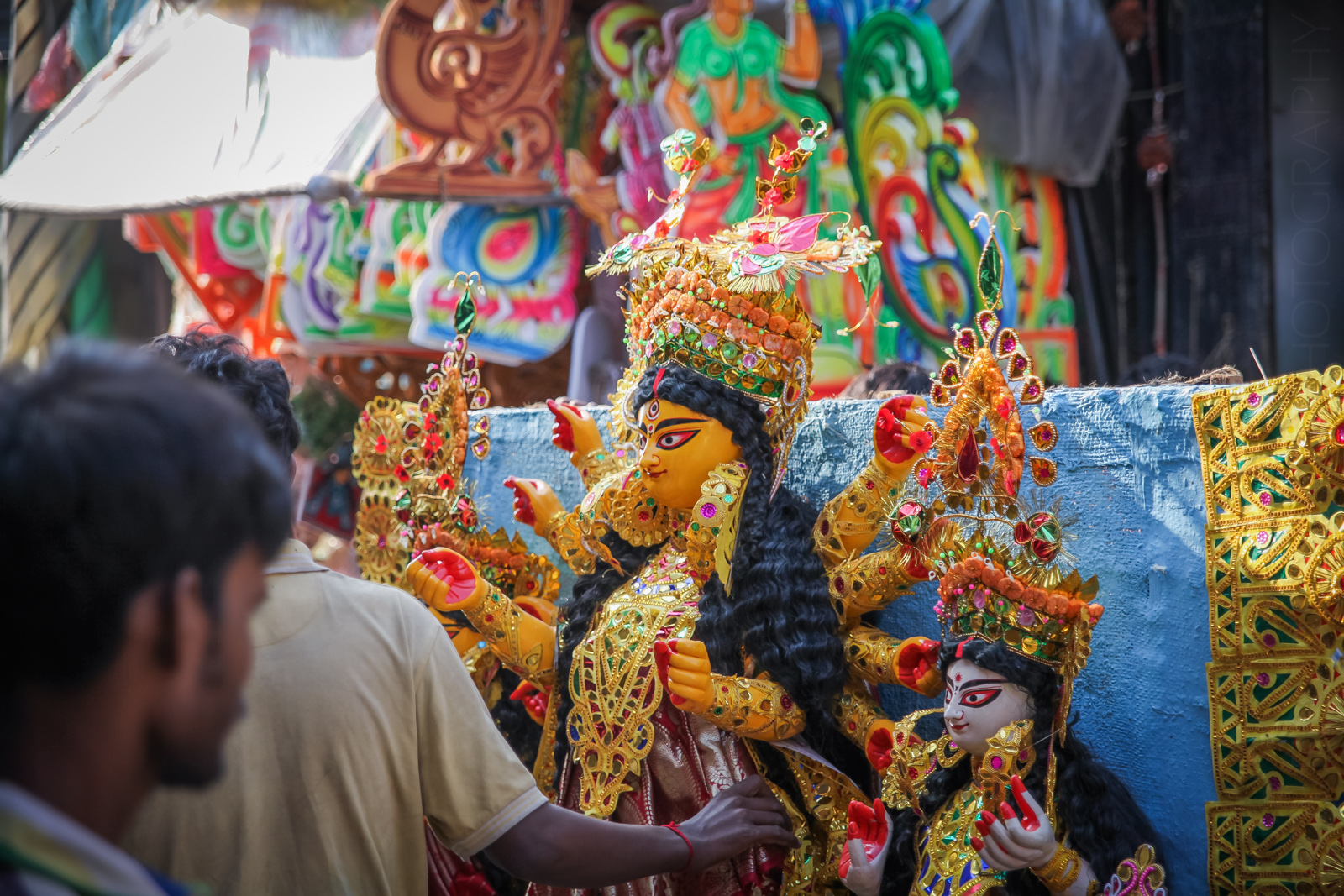Durga Maa begins her journey to Gariahat