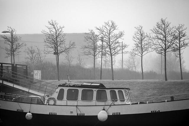 Waiting Off The Fog In Västra Hamnen